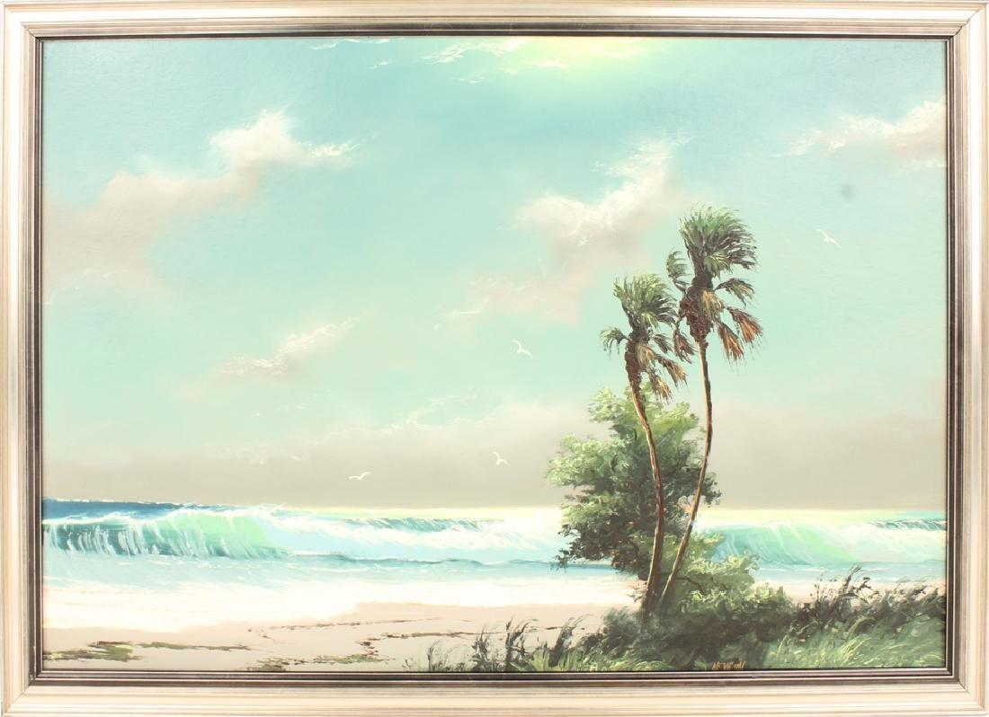 SAM NEWTON FLORIDA HIGHWAYMEN SEASCAPE OIL