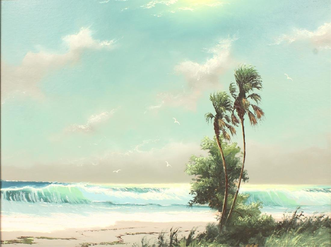 SAM NEWTON FLORIDA HIGHWAYMEN SEASCAPE OIL - 2