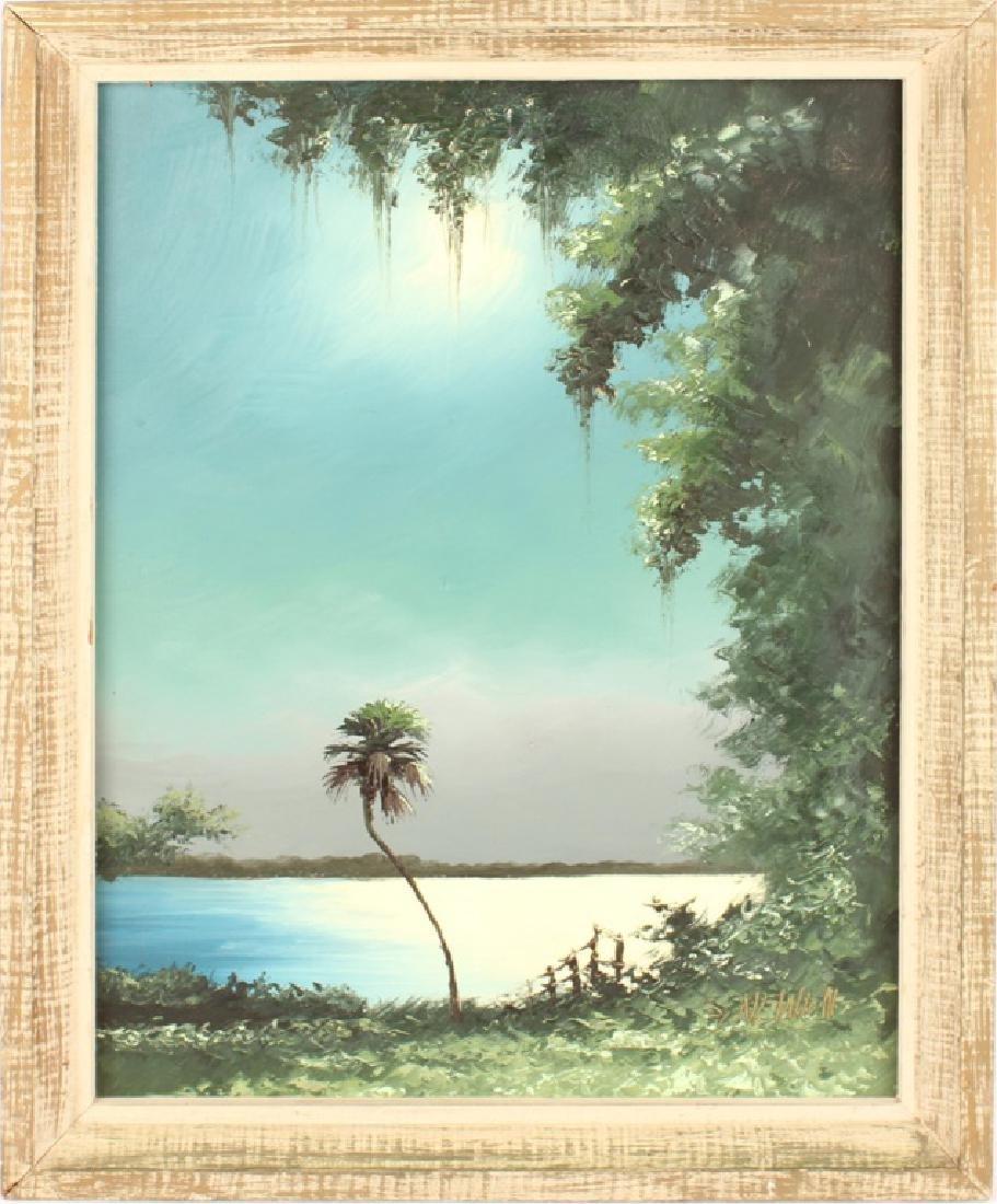 SAM NEWTON FLORIDA HIGHWAYMEN MOONLIT WETLAND OIL