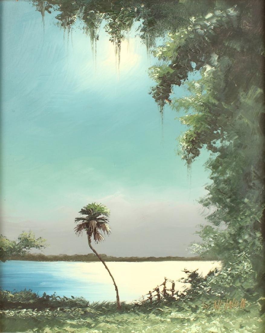 SAM NEWTON FLORIDA HIGHWAYMEN MOONLIT WETLAND OIL - 2