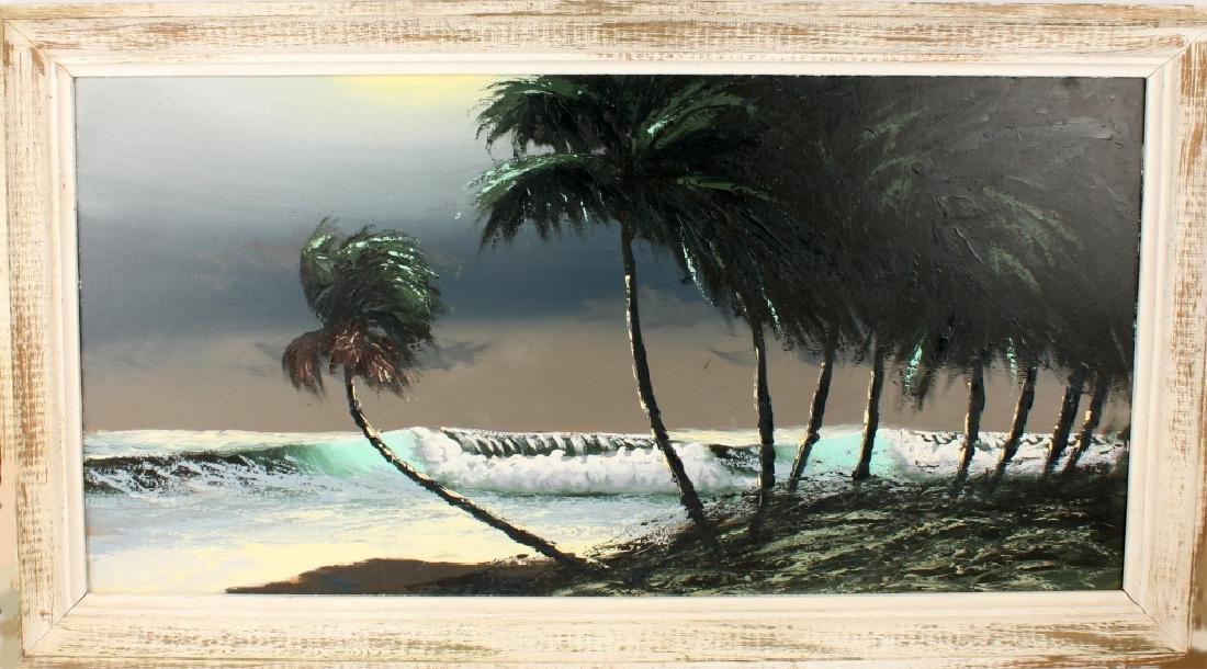 AL HAIR FLORIDA HIGHWAYMEN SEASCAPE OIL ON BOARD