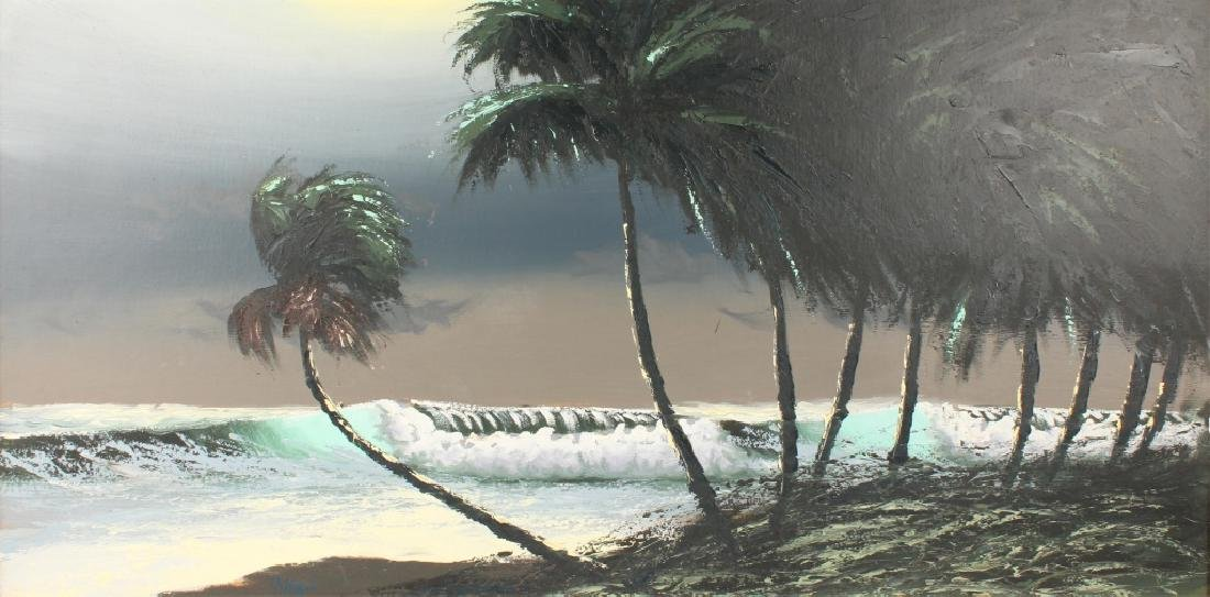 AL HAIR FLORIDA HIGHWAYMEN SEASCAPE OIL ON BOARD - 2