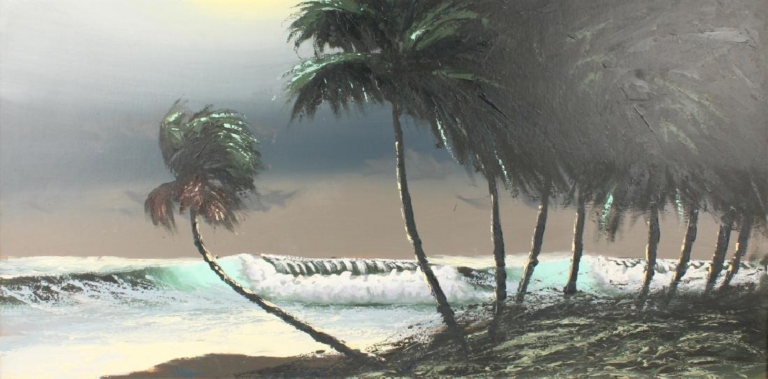 AL HAIR FLORIDA HIGHWAYMEN SEASCAPE OIL ON BOARD - 2
