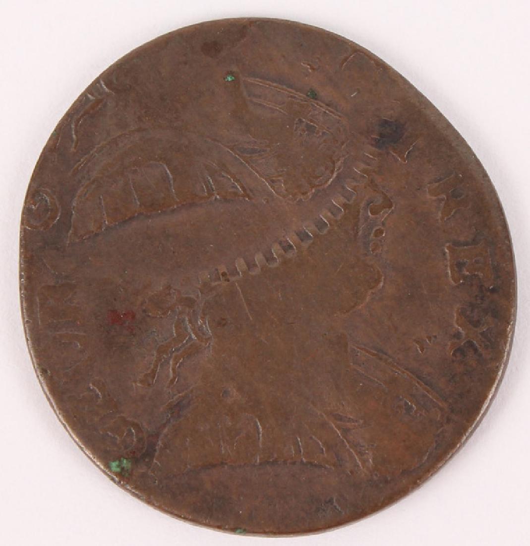 1774 GREAT BRITAIN GEORGE III ERROR HALF PENNY