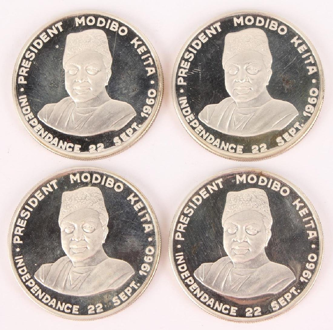 (4) MALI 1960 MODIBO KEITA 10 FRANCS PROOF COINS