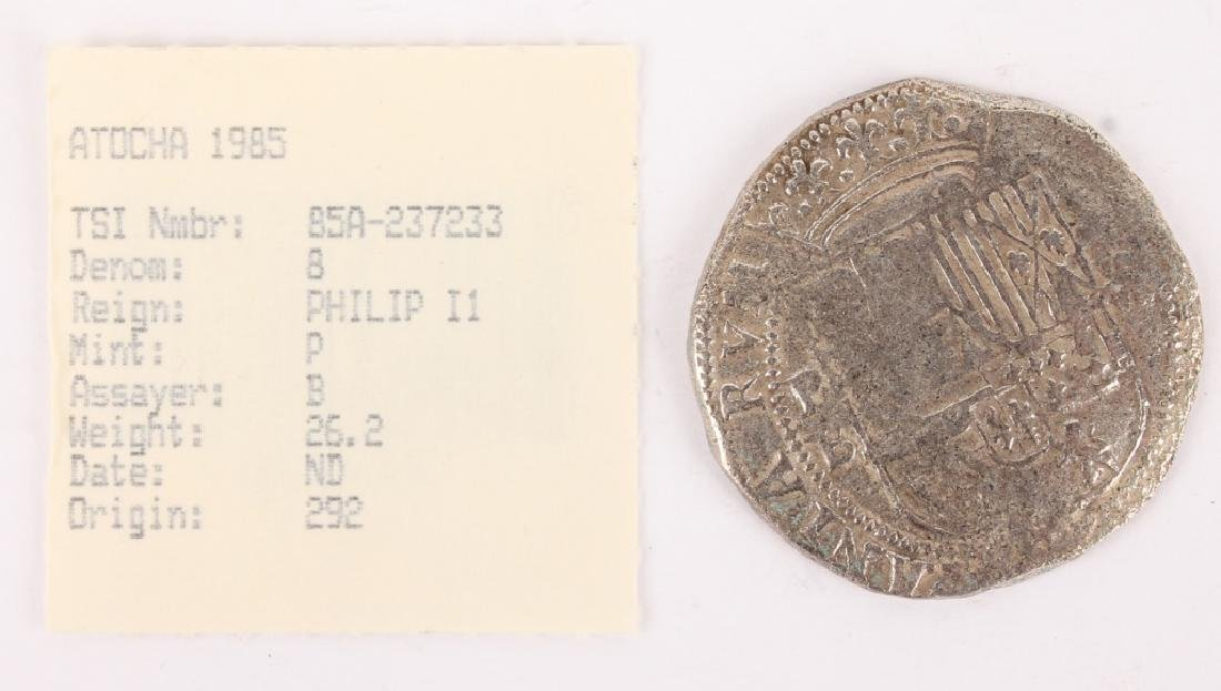 ATOCHA RECOVERED SPANISH SILVER COIN- 8 REALE