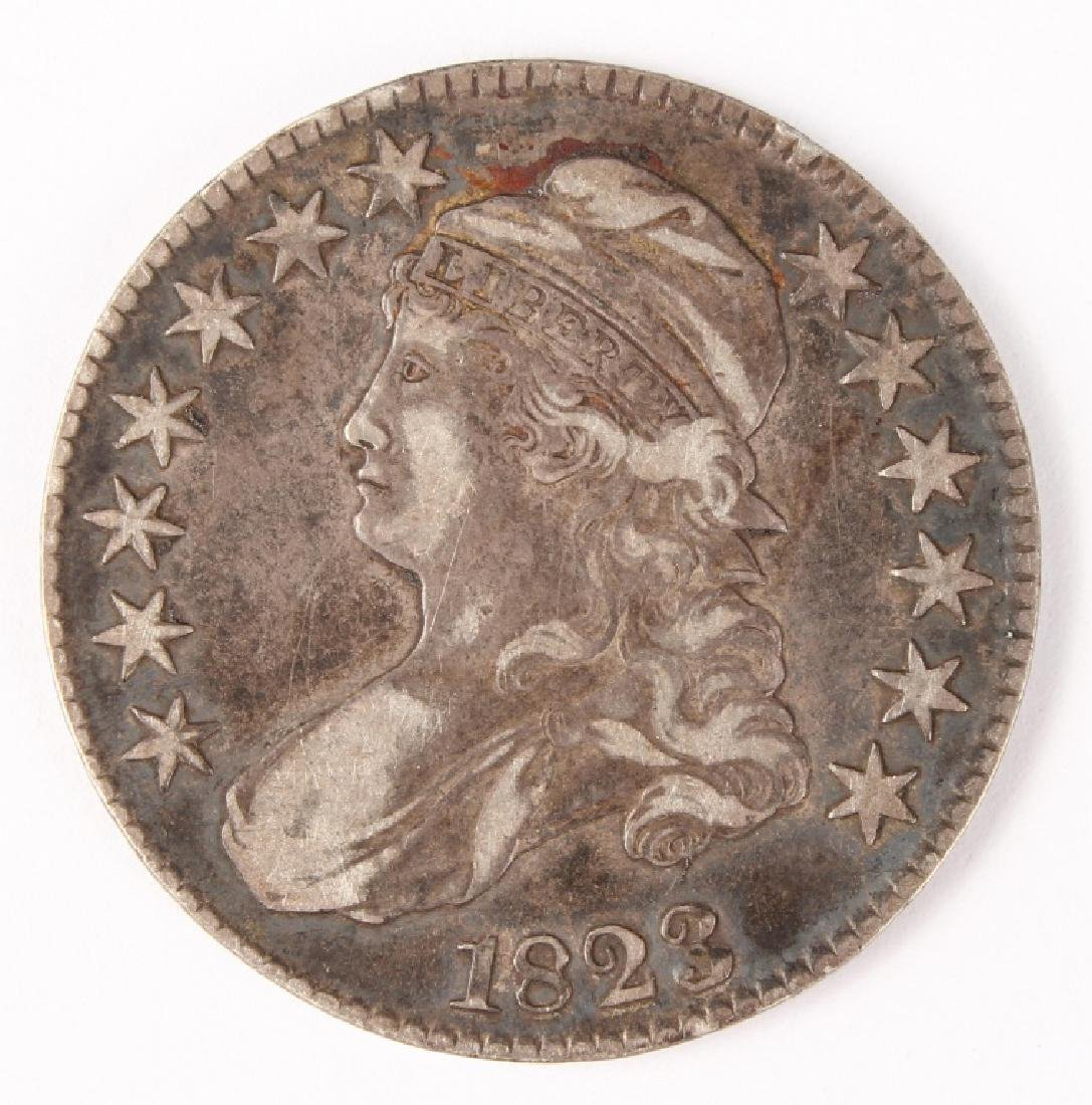 1823 UNITED STATES CAPPED BUST SILVER HALF DOLLAR