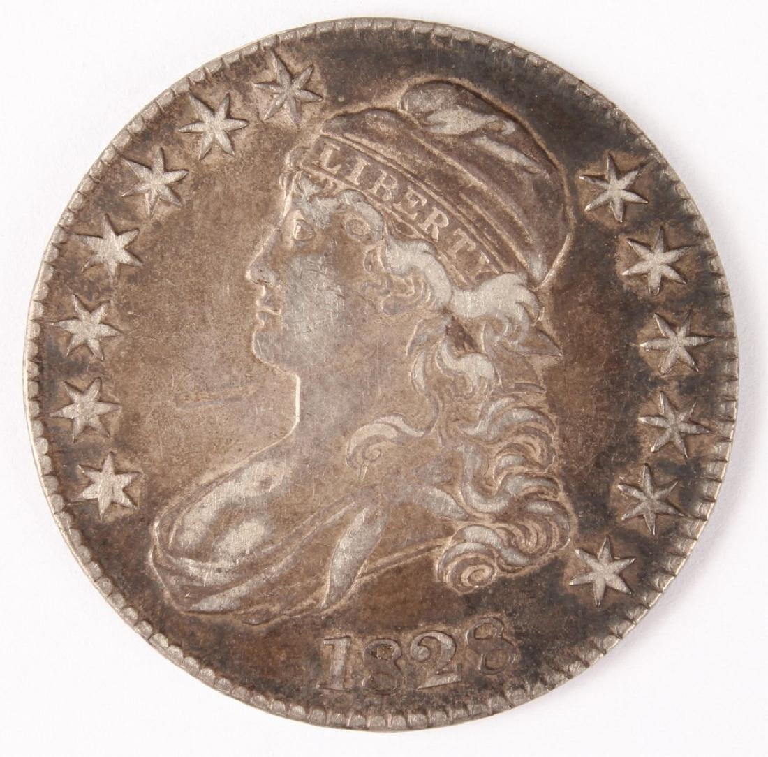 1828 UNITED STATES CAPPED BUST SILVER HALF DOLLAR