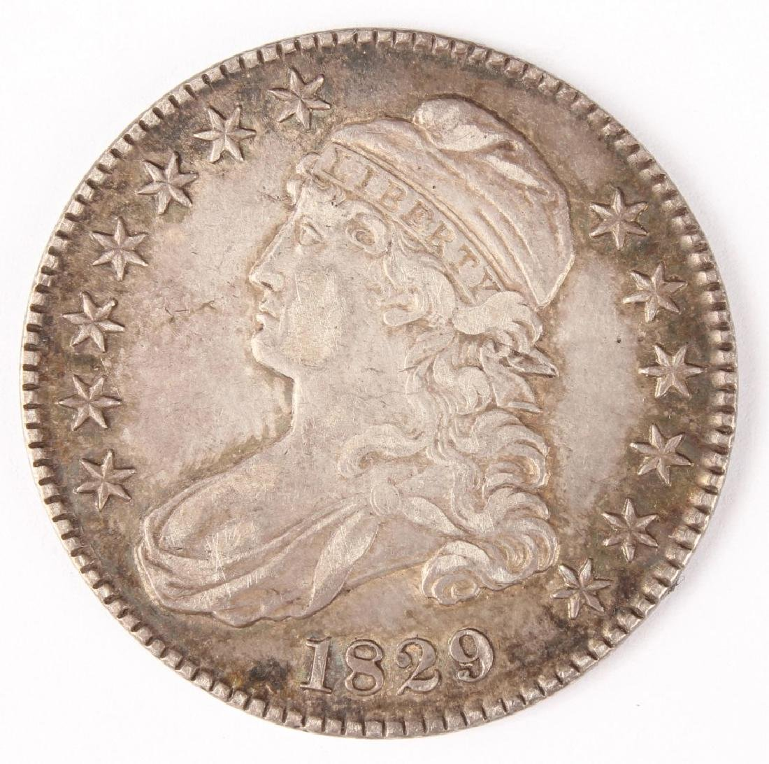 1829 UNITED STATES CAPPED BUST SILVER HALF DOLLAR