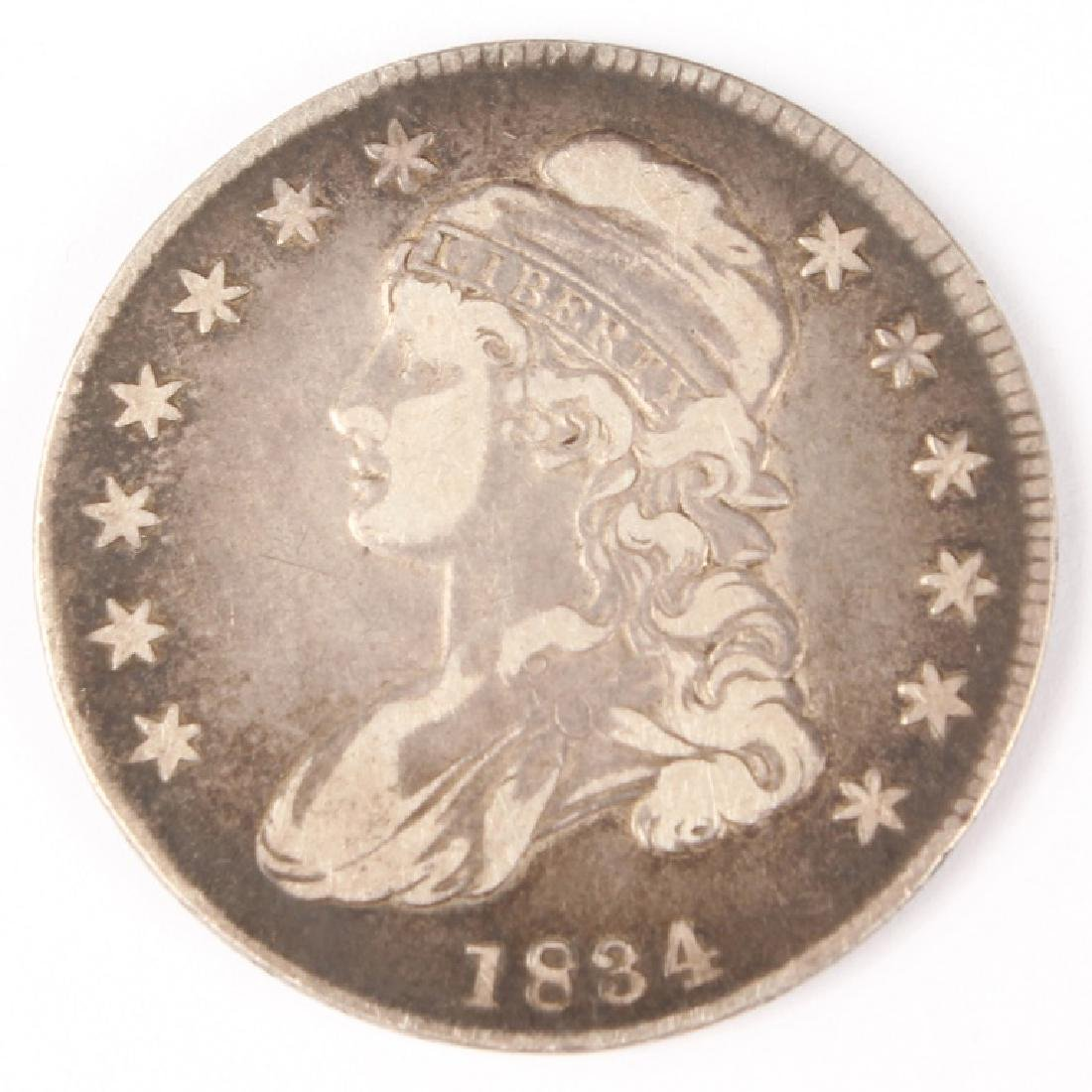1834 UNITED STATES CAPPED BUST SILVER HALF DOLLAR