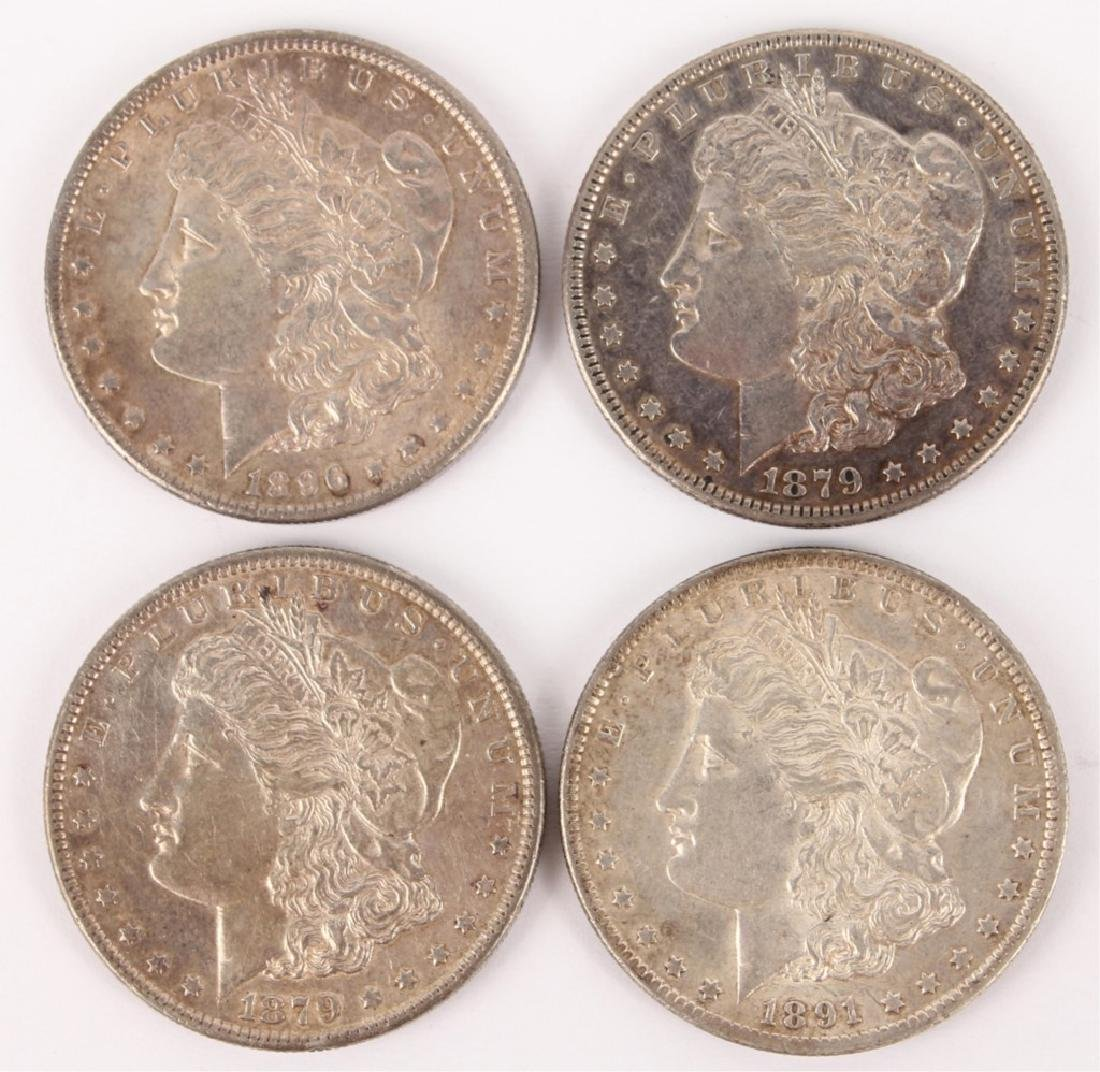 LOT OF 4 UNITED STATES MORGAN SILVER DOLLARS