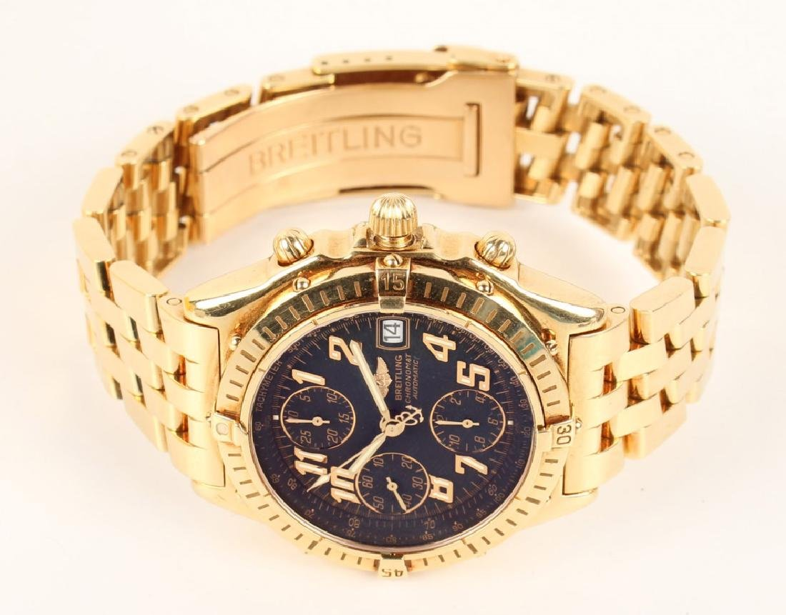 MENS BREITLING CHRONOMAT AUTOMATIC 18K YELLOW GOLD - 2