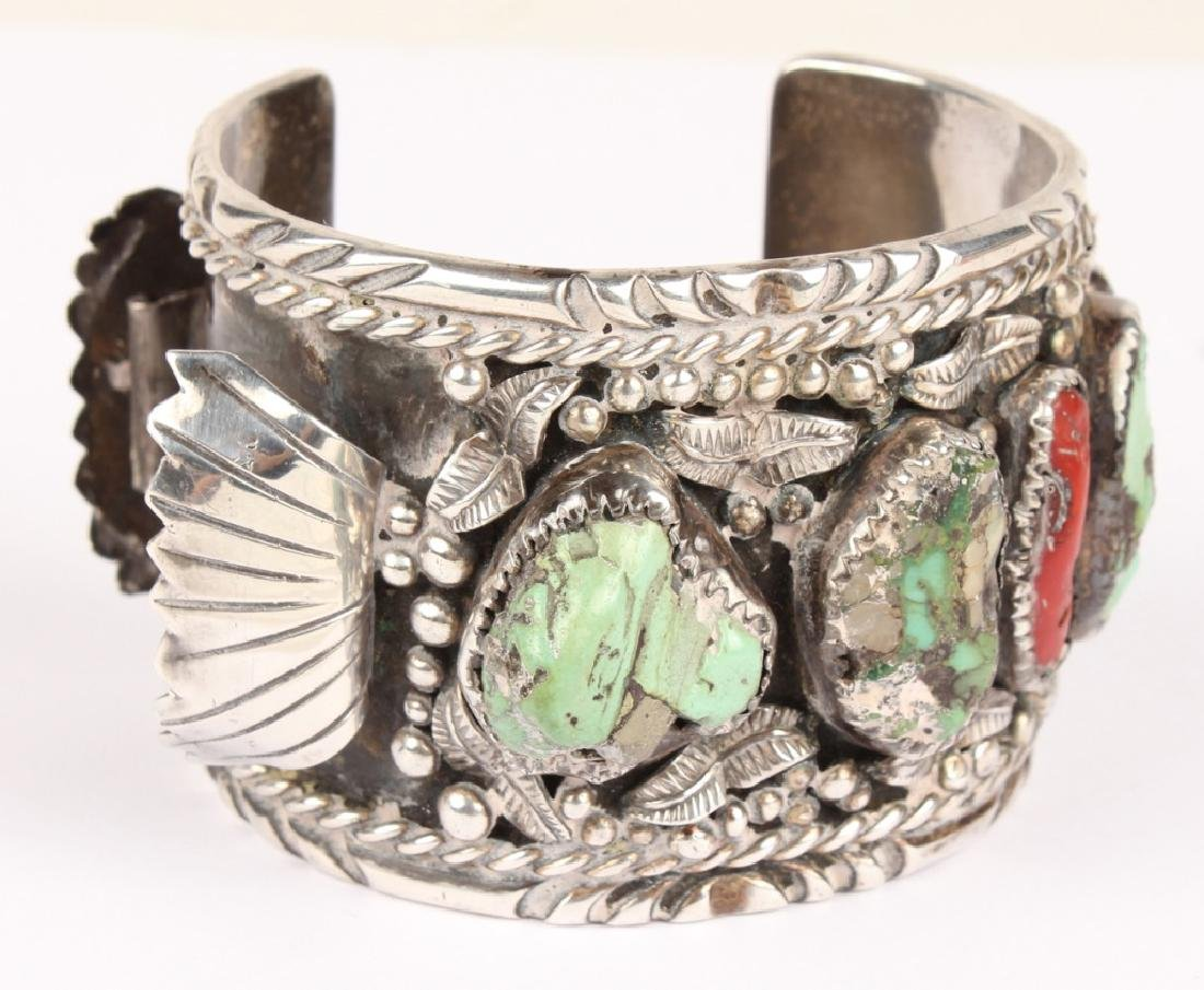 STERLING SILVER NAVAJO TURQUOISE WATCH BAND