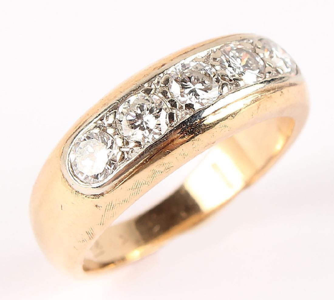 MEN'S 14K YELLOW GOLD DIAMOND BAND