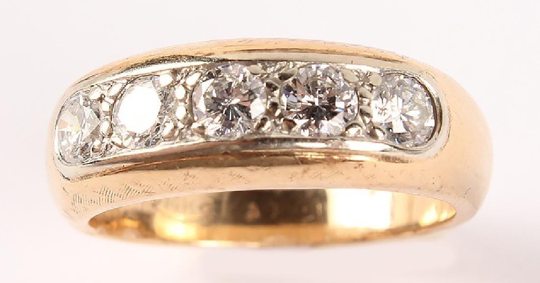 MEN'S 14K YELLOW GOLD DIAMOND BAND - 4