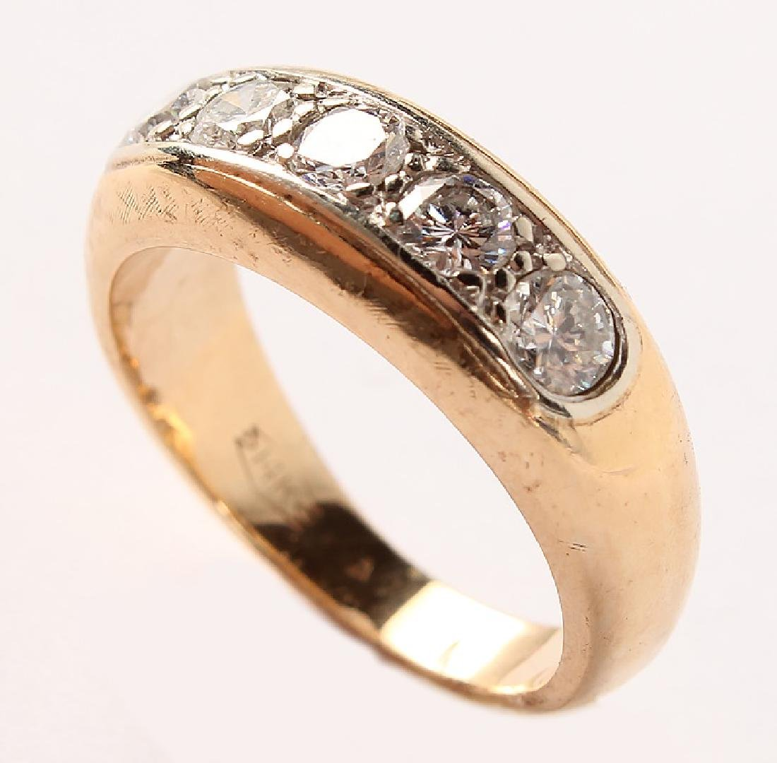 MEN'S 14K YELLOW GOLD DIAMOND BAND - 5