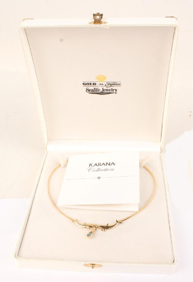 LADIES 14K YELLOW GOLD DOLPHIN NECKLACE - 3