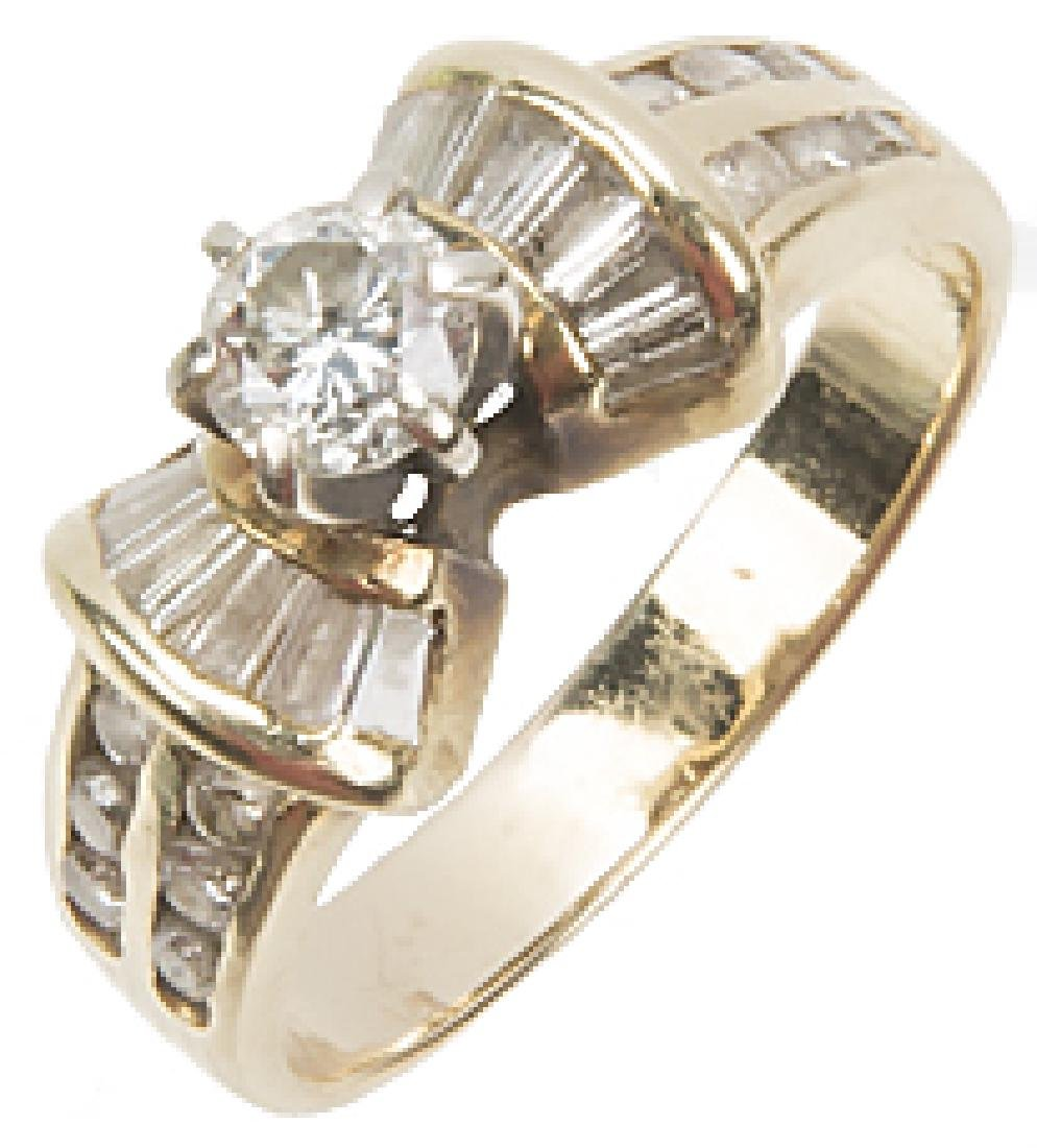 LADIES 14K YELLOW GOLD DIAMOND WEDDING RING