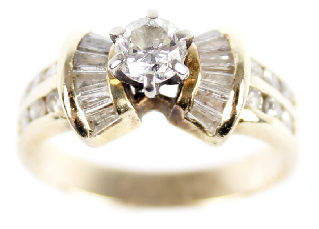 LADIES 14K YELLOW GOLD DIAMOND WEDDING RING - 3
