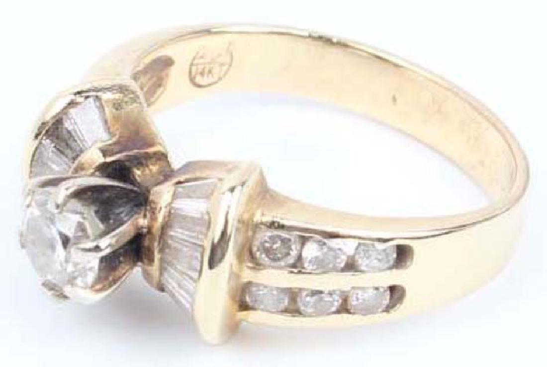 LADIES 14K YELLOW GOLD DIAMOND WEDDING RING - 5