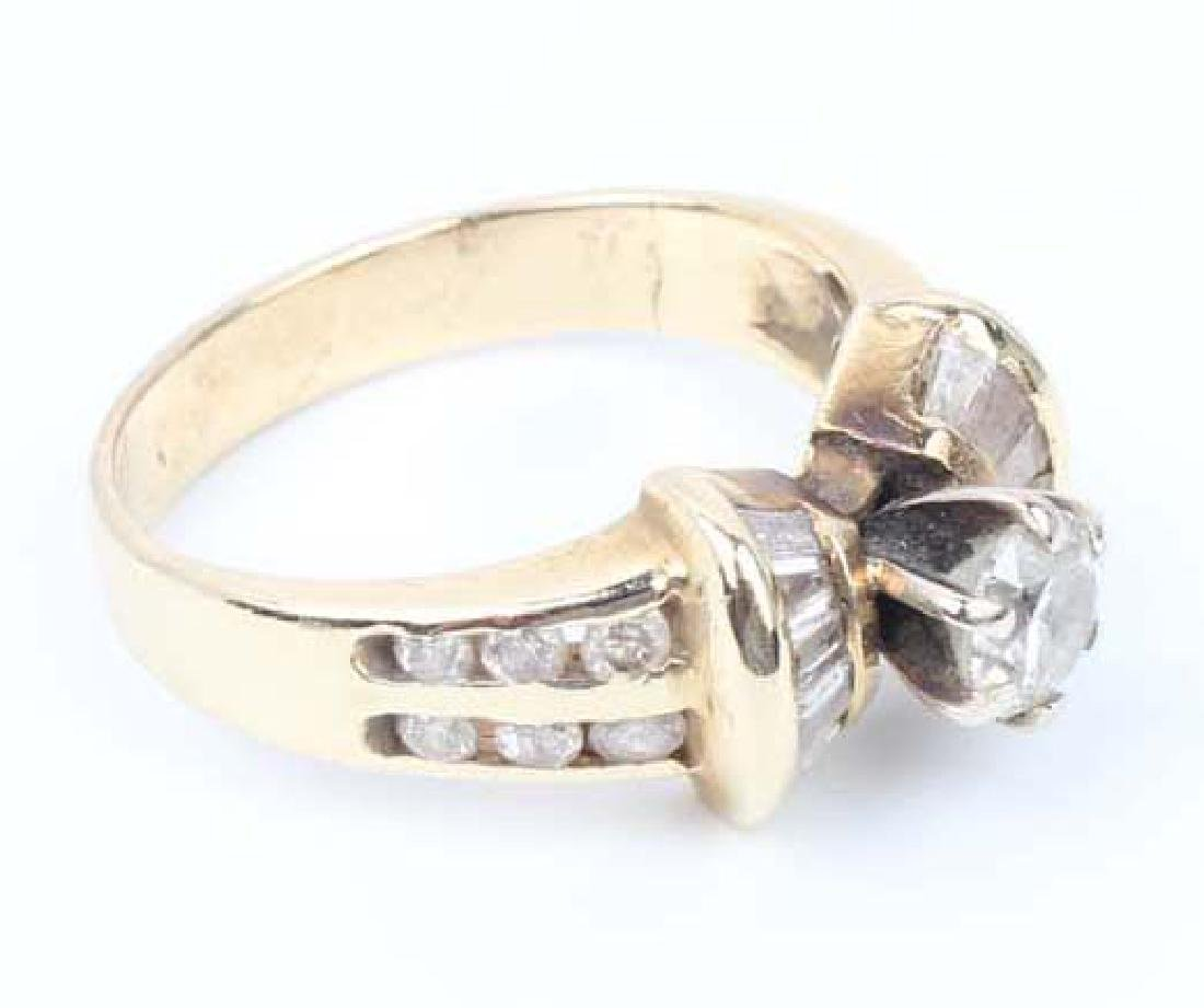 LADIES 14K YELLOW GOLD DIAMOND WEDDING RING - 6