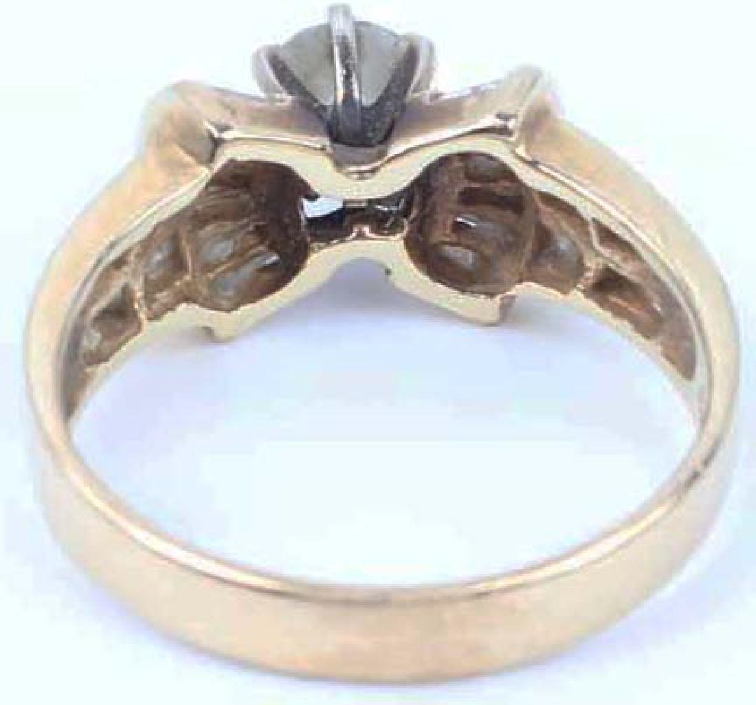 LADIES 14K YELLOW GOLD DIAMOND WEDDING RING - 7