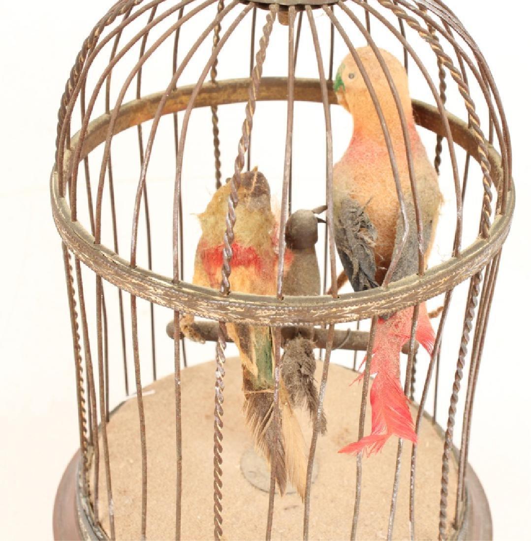 20TH C. BRASS AUTOMATON SINGING BIRD CAGE - 5
