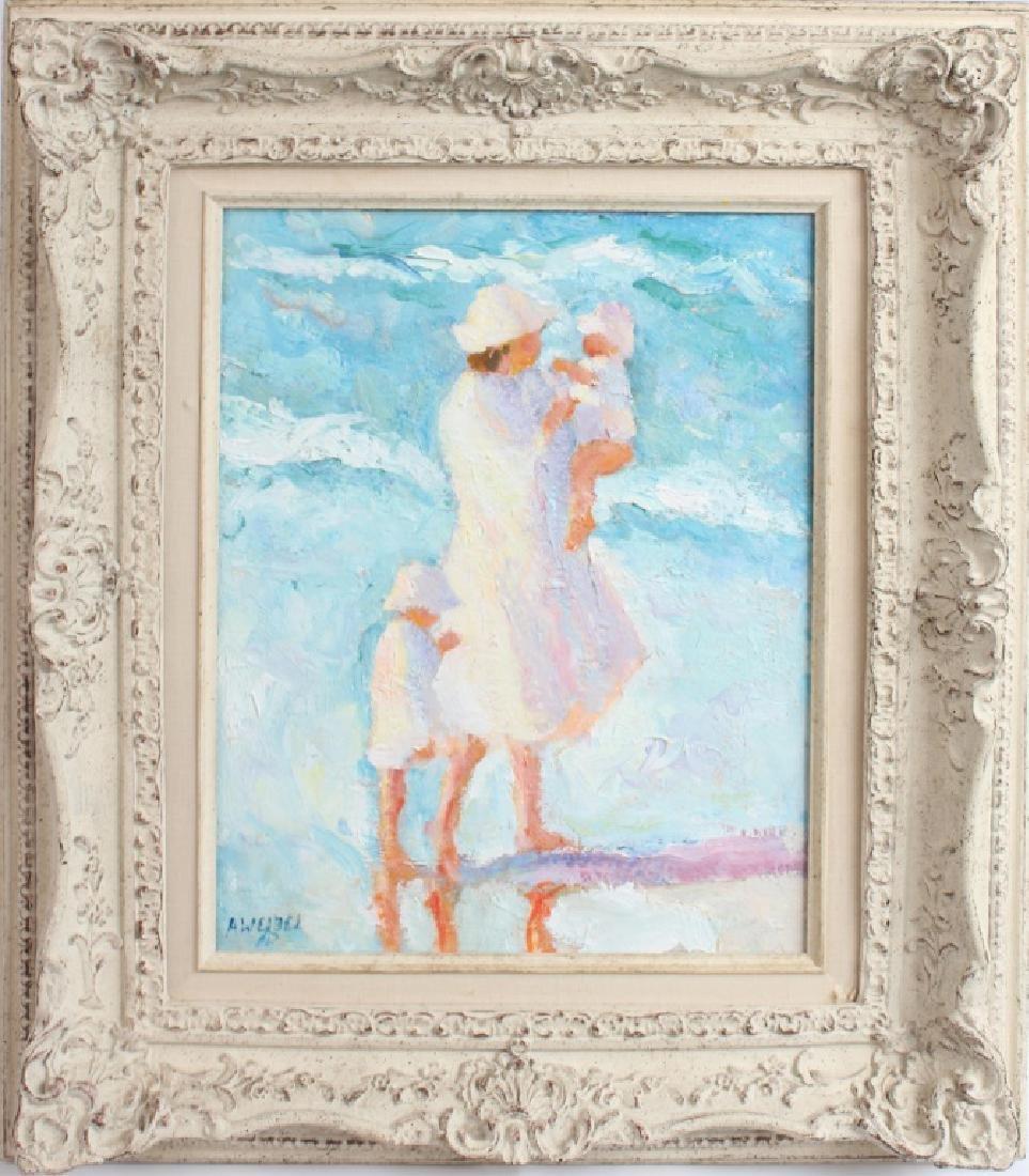 ANN WEIBEL OIL PAINTING ON CANVAS