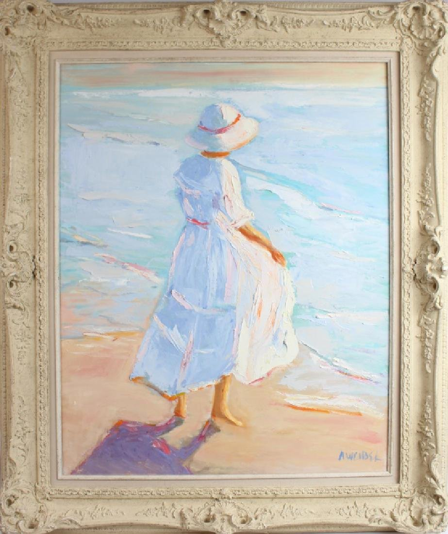 ANN WEIBEL PAINTING OIL ON CANVAS