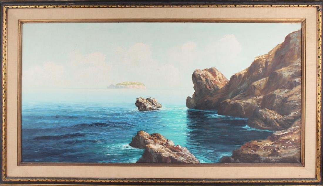 RICARDO CARPANI SEASCAPE OIL ON CANVAS PAINTING