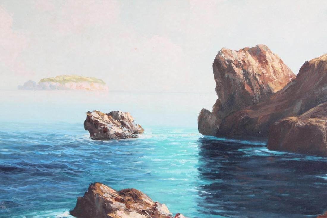 RICARDO CARPANI SEASCAPE OIL ON CANVAS PAINTING - 2