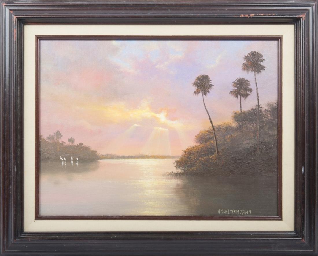 AHMED ELTEMTAMY FLORIDA SUNSET WETLAND OIL