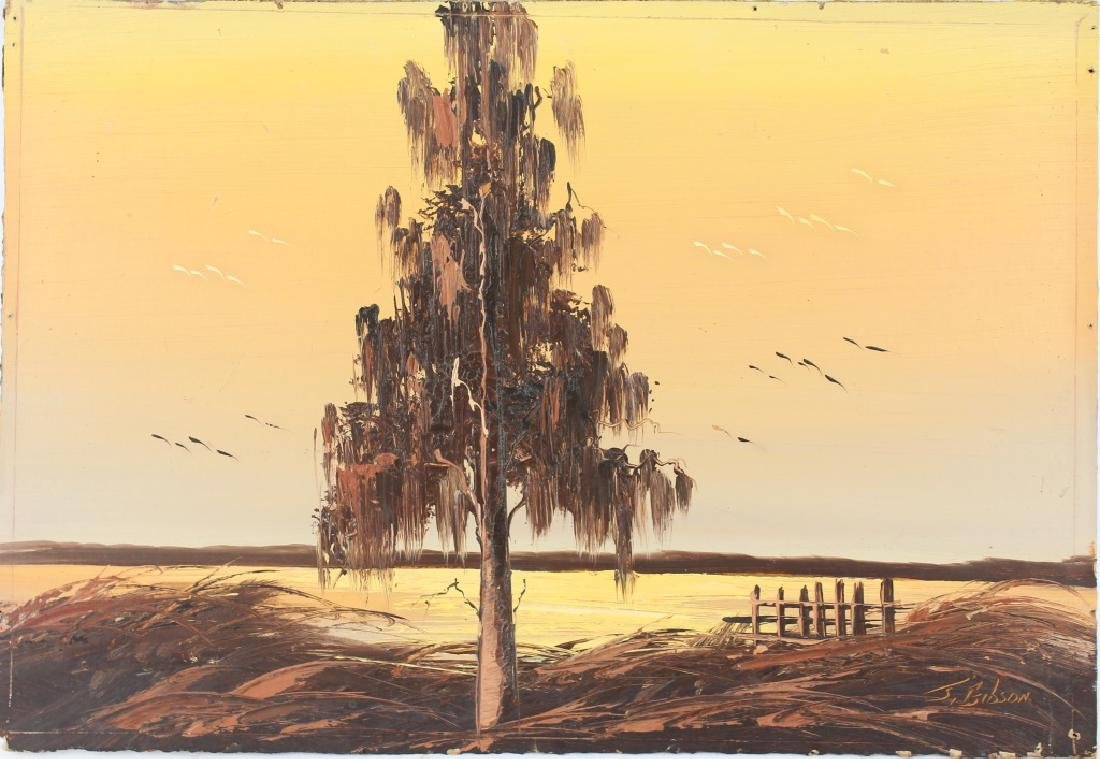 JAMES GIBSON FLORIDA HIGHWAYMEN SEPIA SUNSET OIL