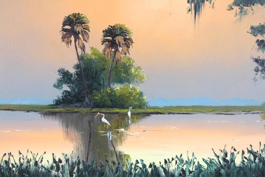 SAM NEWTON FLORIDA HIGHWAYMEN OIL ON BOARD - 2