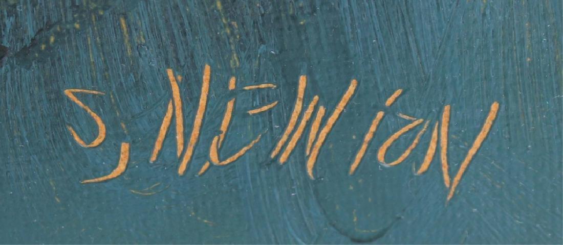SAM NEWTON FLORIDA HIGHWAYMEN OIL ON BOARD - 3