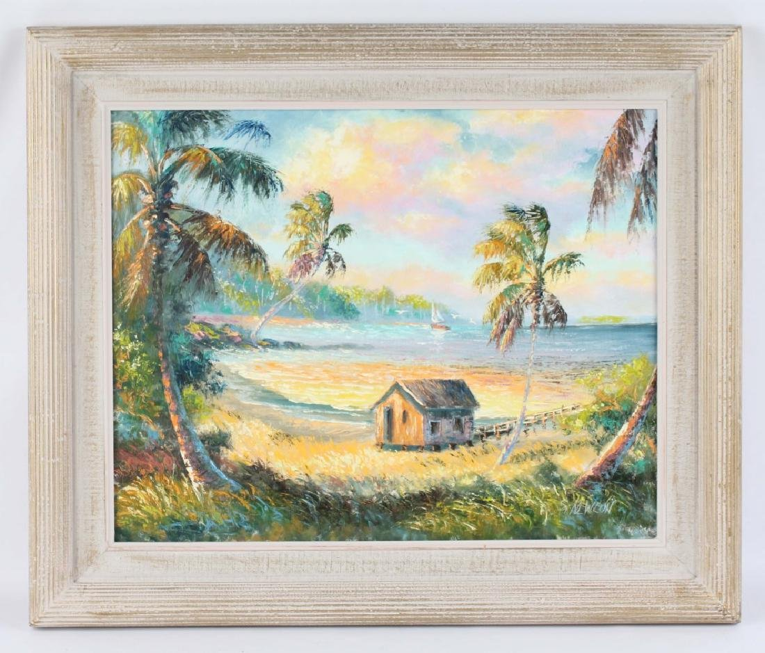 SAM NEWTON FLORIDA HIGHWAYMEN OIL ON BOARD