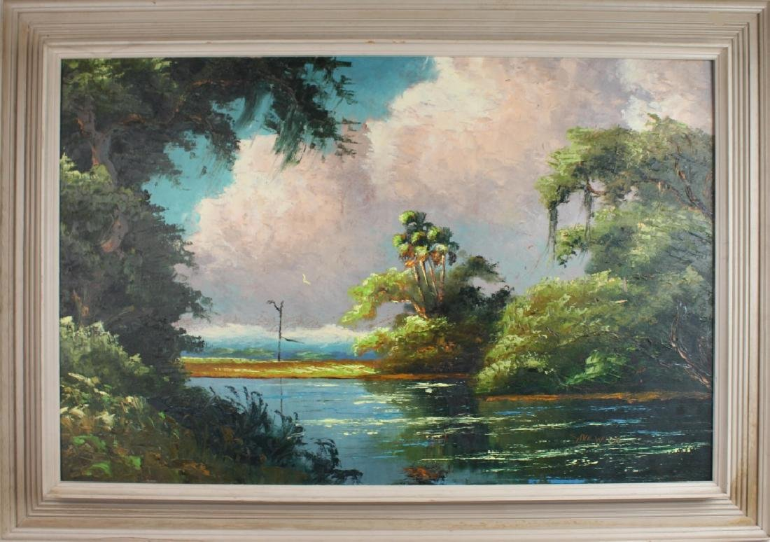 SAM NEWTON FLORIDA HIGHWAYMEN ST. LUCIE RIVER OIL