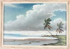 SAM NEWTON FLORIDA HIGHWAYMEN OIL ON BOARD