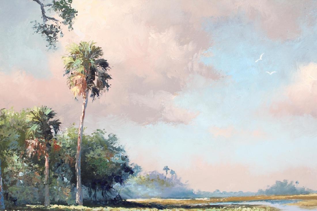 HAROLD NEWTON FLORIDA HIGHWAYMEN MARSH LANDSCAPE - 2