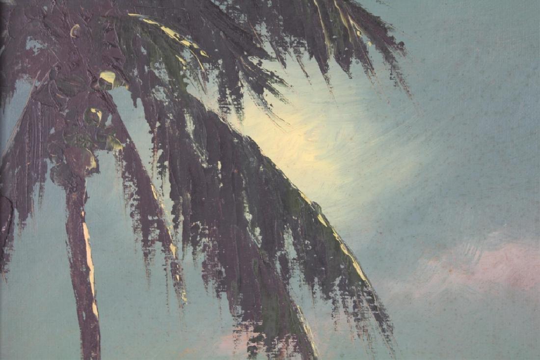 FLORIDA HIGHWAYMEN HAROLD NEWTON OIL ON BOARD - 2