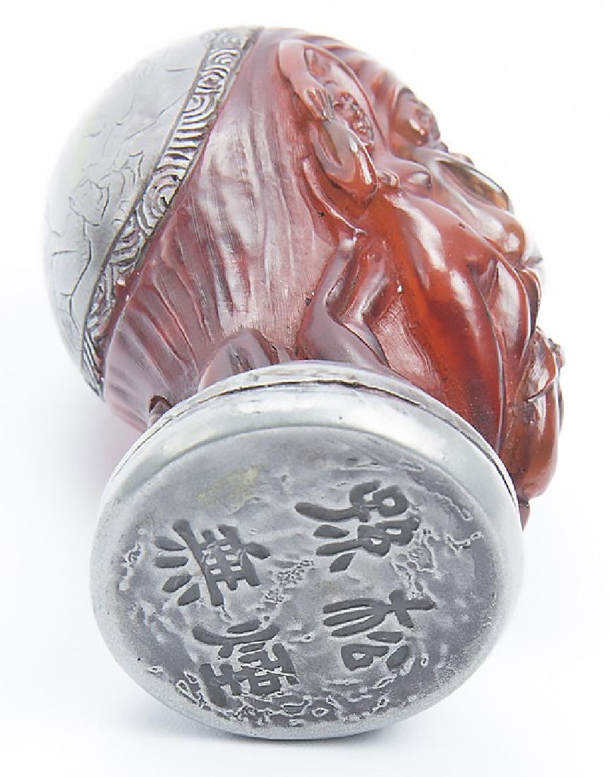 CHINESE STYLE FIGURAL SILVER WRAPPED SEAL - 5