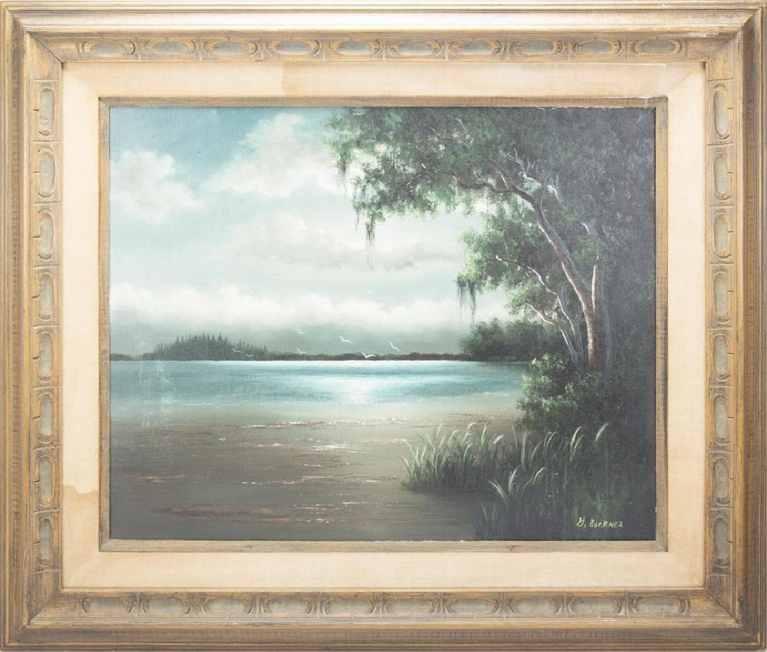 GEORGE BUCKNER FLORIDA HIGHWAYMEN OIL ON CANVAS