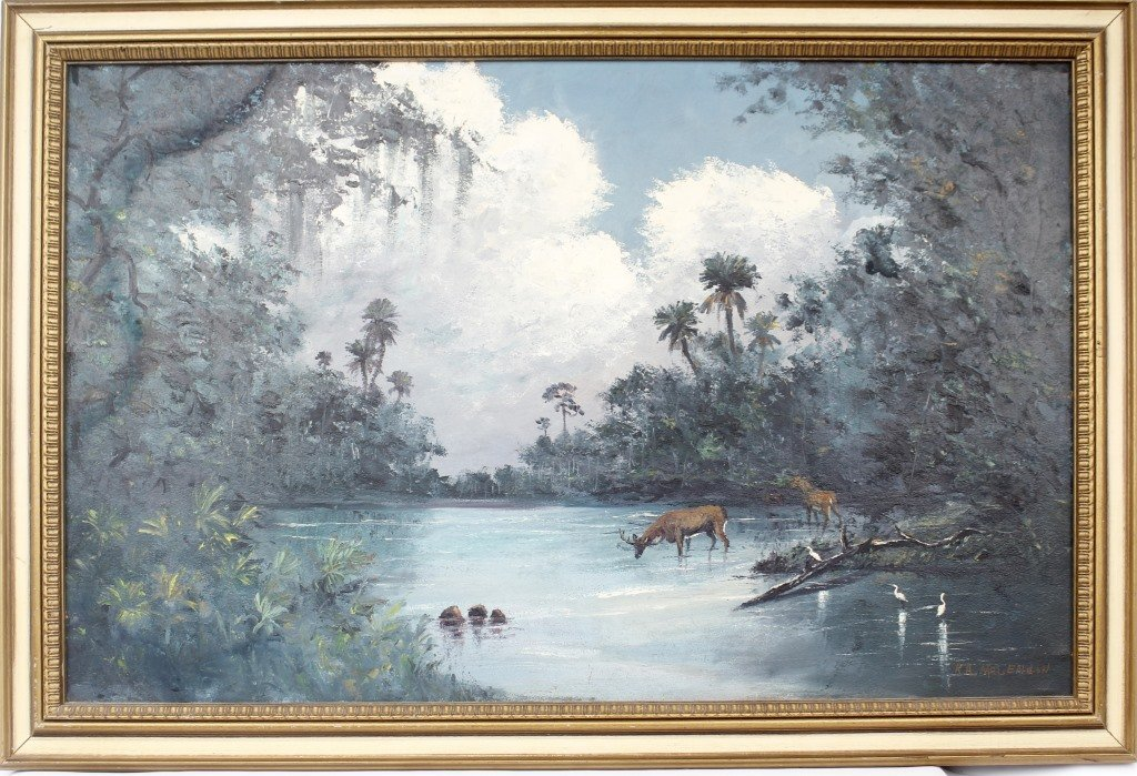 ROY MCLENDON FLORIDA HIGHWAYMEN OIL PAINTING