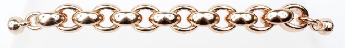LADIES ROSE GOLD LINK BRACELET