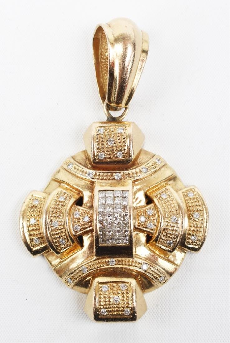 DESIGNER 14K GOLD DIAMOND PENDANT