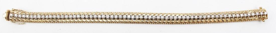 LADIES 14K YELLOW GOLD 1.95 CTW DIAMOND BRACELET