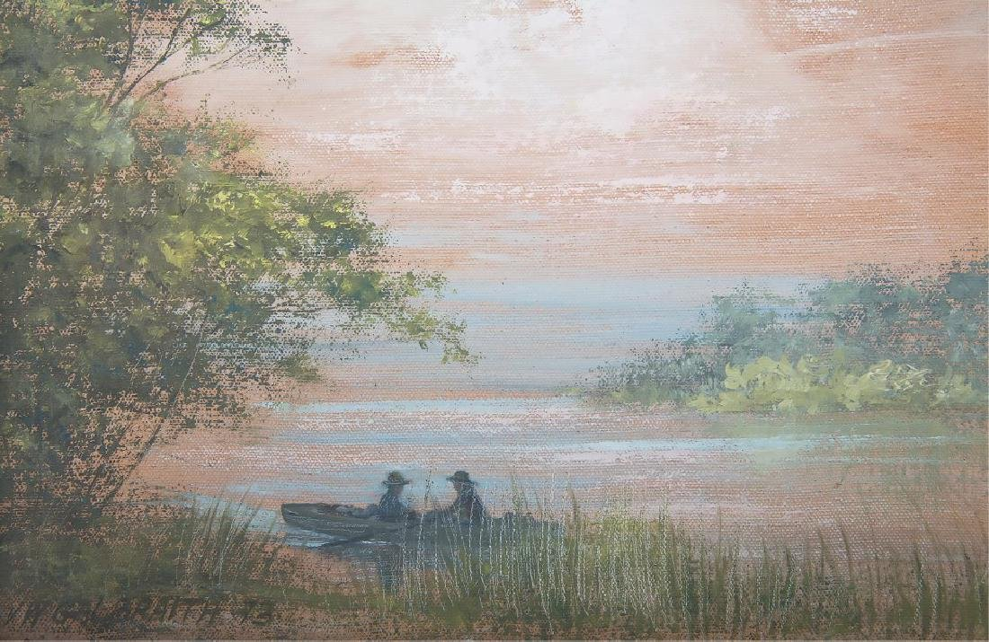 VW GALBRAITH FLORIDA WETLAND LANDSCAPE PAINTING - 2