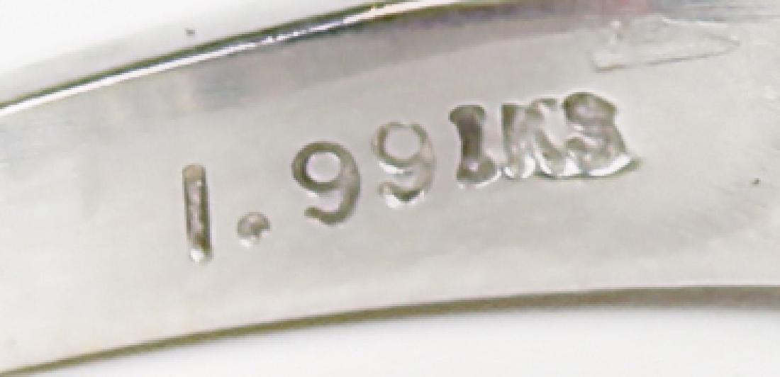 14K WHITE GOLD DIAMOND ENGAGEMENT RING SET - 5