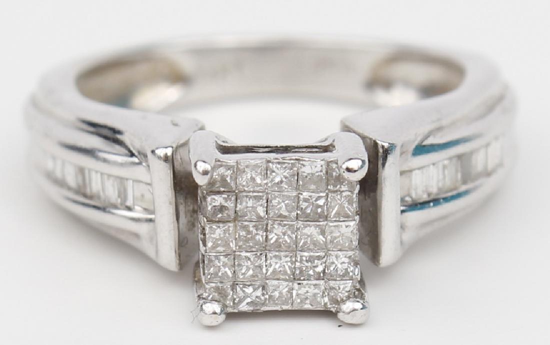 14K WHITE GOLD DIAMOND ENGAGEMENT RING - 2