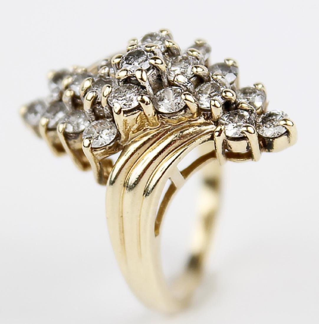 14K YELLOW GOLD DIAMOND LADIES FASHION RING